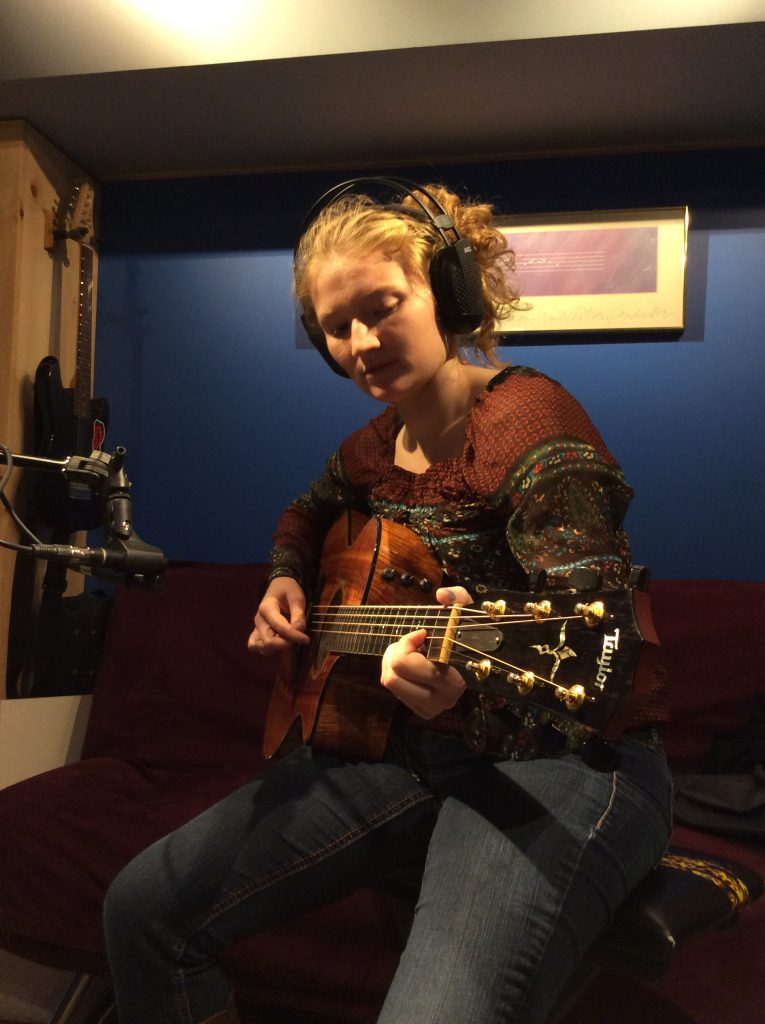 Ashley Miles recording here 2nd album at Dreamery Productions in Vermont